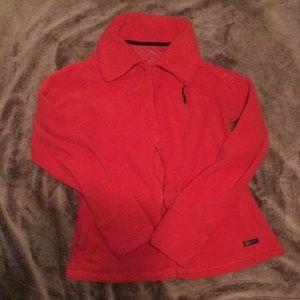 Orange Calvin Klein Fleece Performance Jacket